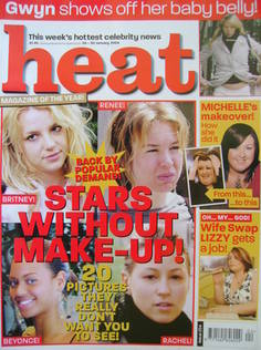 Heat magazine - Stars Without Make-Up! cover (24-30 January 2004 - Issue 254)