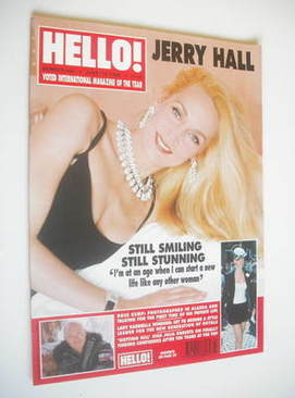 <!--1999-06-15-->Hello! magazine - Jerry Hall cover (15 June 1999 - Issue 5