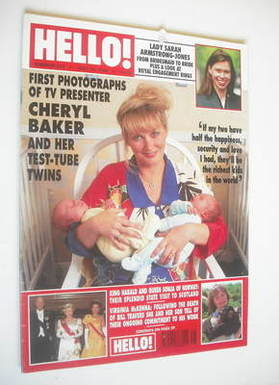 <!--1994-07-16-->Hello! magazine - Cheryl Baker and Daughters Natalie and K