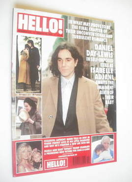 <!--1995-03-18-->Hello! magazine - Daniel Day-Lewis cover (18 March 1995 -