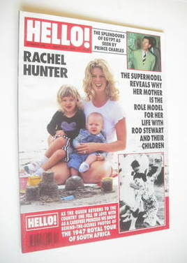 <!--1995-03-25-->Hello! magazine - Rachel Hunter cover (25 March 1995 - Iss