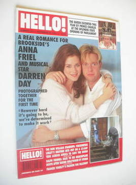 <!--1994-11-26-->Hello! magazine - Anna Friel and Darren Day cover (26 Nove