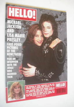 <!--1994-08-20-->Hello! magazine - Michael Jackson and Lisa Marie Presley c