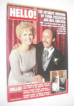 <!--1994-12-17-->Hello! magazine - Fiona Fullerton and Neil Shackell cover