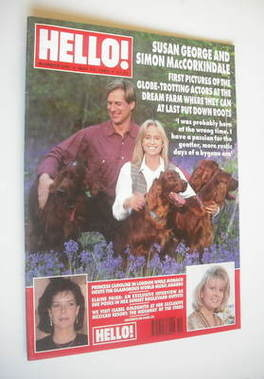 <!--1995-05-13-->Hello! magazine - Susan George and Simon MacCorkindale cov