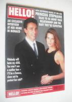 <!--1992-06-06-->Hello! magazine - Princess Stephanie and Daniel Ducruet cover (6 June 1992 - Issue 206)