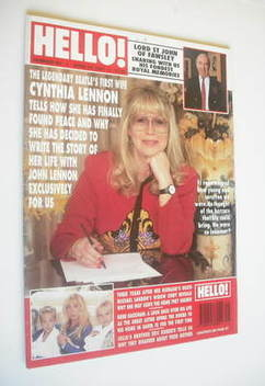 <!--1994-04-23-->Hello! magazine - Cynthia Lennon cover (23 April 1994 - Is
