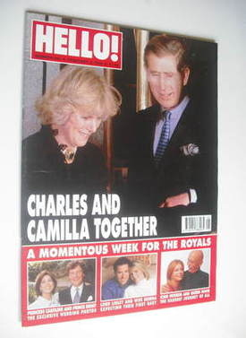 <!--1999-02-06-->Hello! magazine - Prince Charles and Camilla cover (6 Febr