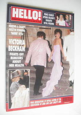 <!--1999-12-14-->Hello! magazine - Victoria Beckham cover (14 December 1999