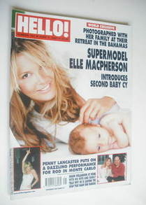 <!--2003-06-03-->Hello! magazine - Elle MacPherson and baby Cy cover (3 Jun