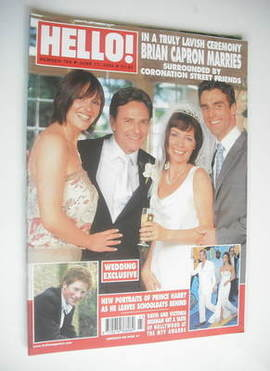 <!--2003-06-17-->Hello! magazine - Brian Capron wedding cover (17 June 2003