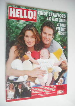 <!--1999-08-24-->Hello! magazine - Cindy Crawford and Rande Gerber cover (2
