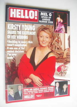 <!--1999-10-05-->Hello! magazine - Kirsty Young cover (5 October 1999 - Iss
