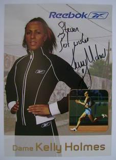 Kelly Holmes autograph