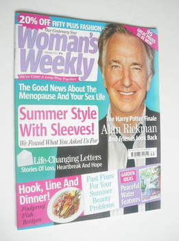 <!--2011-07-26-->Woman's Weekly magazine (26 July 2011 - Alan Rickman cover