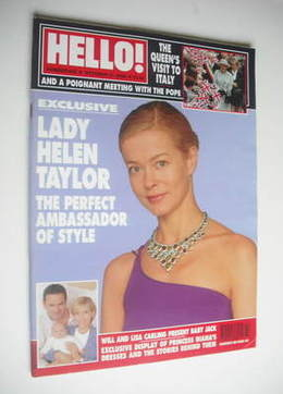 <!--2000-10-31-->Hello! magazine - Lady Helen Taylor cover (31 October 2000