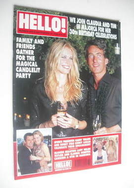 <!--2000-09-12-->Hello! magazine - Claudia Schiffer and Tim Jefferies cover