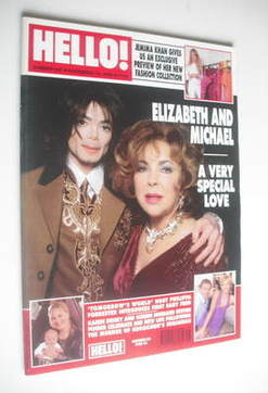 <!--2000-11-14-->Hello! magazine - Elizabeth Taylor and Michael Jackson cov