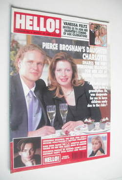<!--1998-03-28-->Hello! magazine - Charlotte Brosnan cover (28 March 1998 -