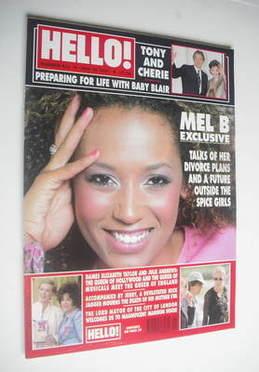 <!--2000-05-30-->Hello! magazine - Mel B cover (30 May 2000 - Issue 613)