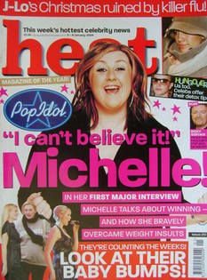 Heat magazine - Michelle McManus cover (3-9 January 2004 - Issue 251)