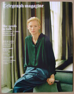 <!--2011-10-08-->Telegraph magazine - Tilda Swinton cover (8 October 2011)