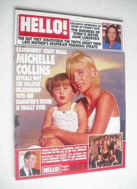 <!--1998-11-14-->Hello! magazine - Michelle Collins cover (14 November 1998