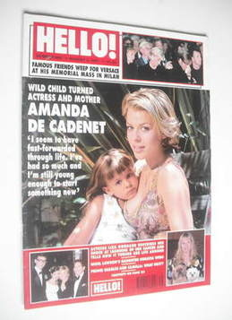 <!--1997-08-02-->Hello! magazine - Amanda de Cadenet cover (2 August 1997 -