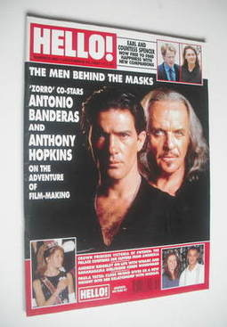 <!--1997-12-13-->Hello! magazine - Antonio Banderas and Anthony Hopkins cov