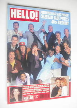 <!--1998-10-17-->Hello! magazine - Blue Peter 40th birthday cover (17 Octob
