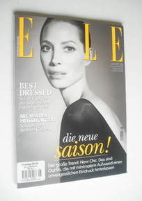 German Elle magazine - August 2011 - Christy Turlington cover