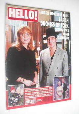 <!--1997-02-01-->Hello! magazine - The Duchess of York and John Galliano co