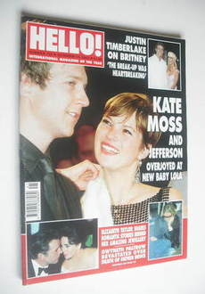 <!--2002-10-15-->Hello! magazine - Kate Moss and Jefferson Hack cover (15 O
