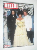 <!--1991-10-19-->Hello! magazine - Elizabeth Taylor and Larry Fortensky wedding cover (19 October 1991 - Issue 174)