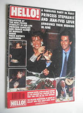 <!--1990-05-05-->Hello! magazine - Princess Stephanie and Jean-Yves Lefur c