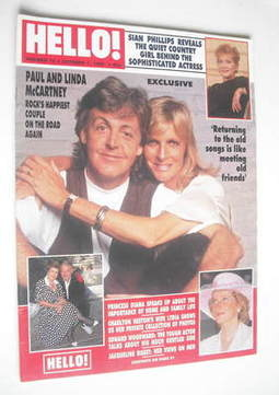 <!--1989-10-07-->Hello! magazine - Paul McCartney and Linda McCartney cover