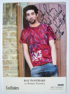 Ray Panthaki autograph (ex EastEnders actor)