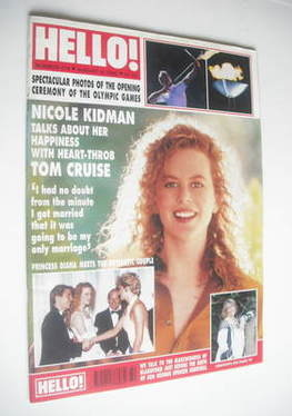 <!--1992-08-08-->Hello! magazine - Nicole Kidman cover (8 August 1992 - Iss