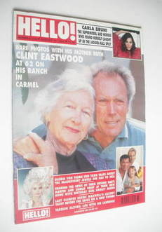 <!--1992-08-15-->Hello! magazine - Clint Eastwood cover (15 August 1992 - I