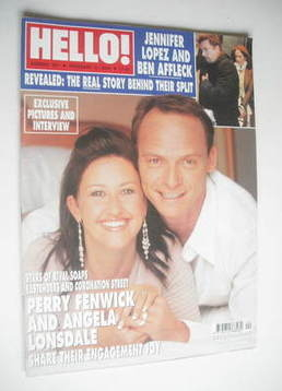<!--2004-02-03-->Hello! magazine - Perry Fenwick and Angela Lonsdale cover