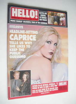 <!--2000-03-07-->Hello! magazine - Caprice Bourret cover (7 March 2000 - Is