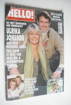 <!--2003-11-18-->Hello! magazine - Ulrika Jonsson and Lance Gerrard-Wright