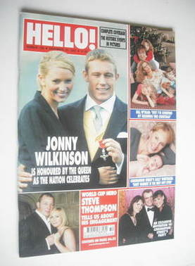 <!--2003-12-23-->Hello! magazine - Jonny Wilkinson cover (23 December 2003