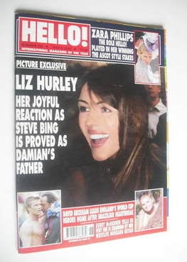 <!--2002-07-02-->Hello! magazine - Elizabeth Hurley cover (2 July 2002 - Is