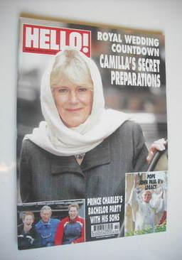 <!--2005-04-11-->Hello! magazine - Camilla Parker Bowles cover (11 April 20