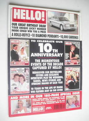 <!--1998-05-16-->Hello! magazine - 10th Anniversary cover (16 May 1998 - Is