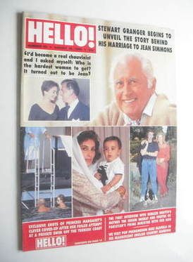 <!--1989-08-19-->Hello! magazine - Stewart Granger cover (19 August 1989 -