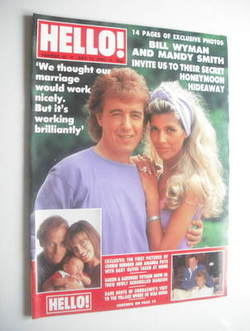 <!--1989-07-15-->Hello! magazine - Bill Wyman and Mandy Smith cover (15 Jul
