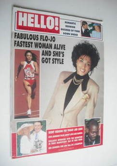 Hello! magazine - Florence Griffith Joyner cover (8 October 1988 - Issue 21)
