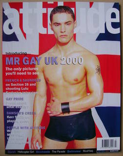 <!--2000-07-->Attitude magazine - Mr Gay UK 2000 cover (July 2000 - Issue 7
